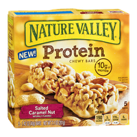 Nature Valley Protein Chewy Bars Salted Caramel Nut - 5 CT