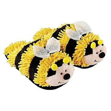 Aromahome and Aroma Home Yellow Bumble Bee Fuzzy Friends Slippers-One Size Fits All