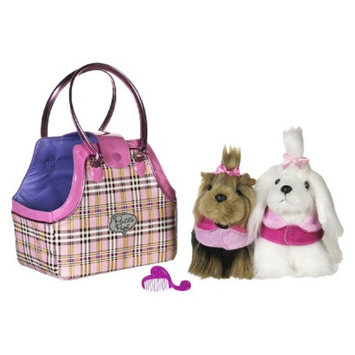 Branford Pucci Pups Pretty Plaid Twin Bag and Pups