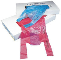 Value Brand CT1318W TShirt Bags, White, 18 In. L, PK 1000