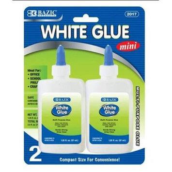 Bazic Products BAZIC 1.25 Oz. (37mL) White Glue (2/Pack) (Case of