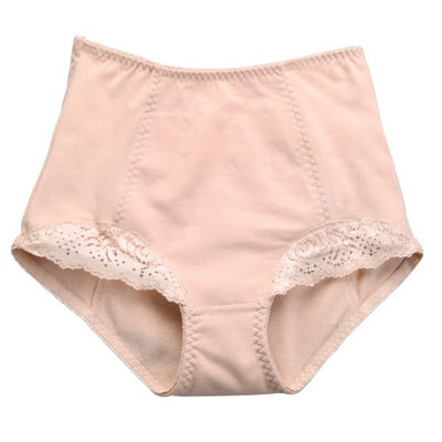 Conni Chantilly Lace Absorbent Panty, Light Incontinence Protection: Beige