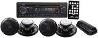 PYLE AUDIO PYLPLCD4MRKTB Marine Single-DIN In-Dash 4-Speaker CD/USB/MP3/Combo Receiver with Stereo Cover
