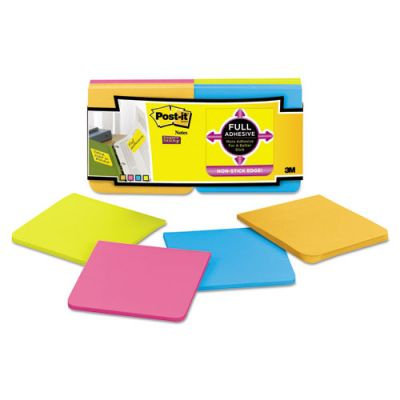 Post-it Notes Super Sticky Full Adhesive Notes, Assorted Bright Colors, 12pk