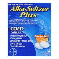 Alka-Seltzer Plus Effervescent Cold Formula - Orange Zest, 20 tablets