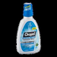 Orajel Alcohol Free Antiseptic Rinse Fresh Mint