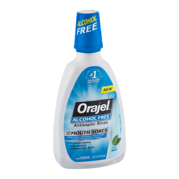 Orajel Alcohol Free Antiseptic Rinse Fresh Mint