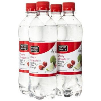 market pantry Market Pantry Cherry Limeade Sparkling Water Beverage, 4 - 16.9 oz.