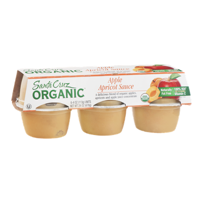 Santa Cruz Organic Apple Apricot Sauce - 6 CT