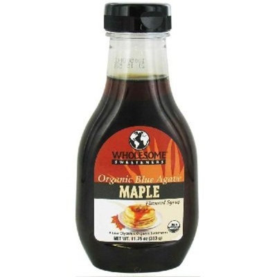 Wholesome Sweeteners Organic Maple Flavored Blue Agave Syrup, 11.75 Ounce -- 6 per case.