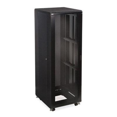 Linier 3101-3-024-37 37U Server Cabinet - Glass/Solid Doors - 24-inch Depth