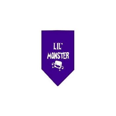 Ahi Lil Monster Screen Print Bandana Purple Large