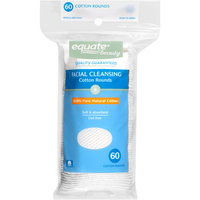Equate Beauty Facial Cleansing Cotton Rounds, 60 count