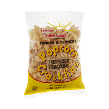 Carolina Country Snacks Popcorn Fried Pork Cracklins