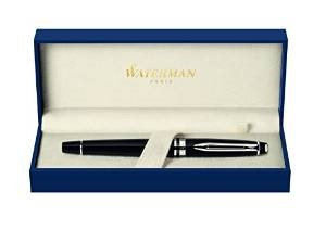 Waterman Expert Black with Chrome Trim Fine Point Rollerball Pen