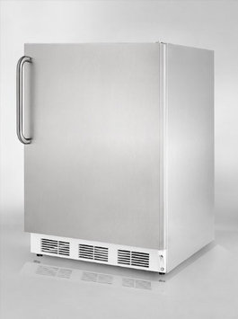 SUMMIT Commercial built-in undercounter all-refrigerator fully wrapped in stainless steel