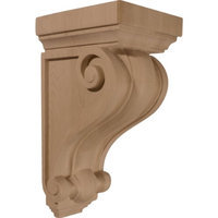 Ekena Millwork 6-in x 13.25-in Alder Devon Traditional Wood Corbel