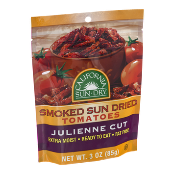 California Sun Dry Smoked Sun Dried Tomatoes Julienne Cut