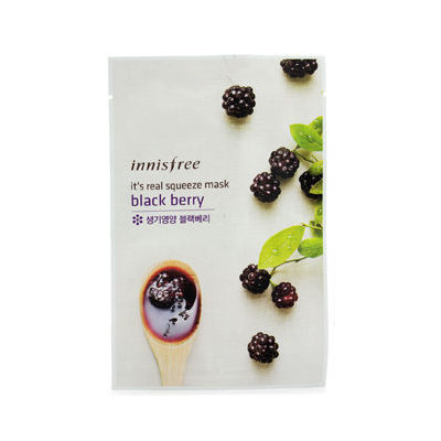 Innisfree It's Real Squeeze Mask - Black Berry 10pcs