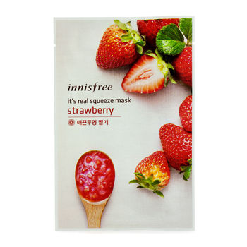 Innisfree - It's Real Squeeze Mask (Strawberry) 10 pcs