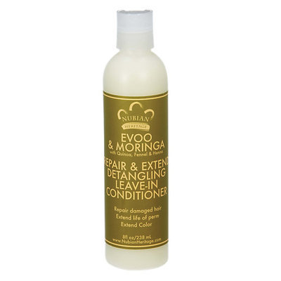 Nubian Heritage - Detangling Leave-In Conditioner Repair & Extend EVOO & Moringa - 8 oz.