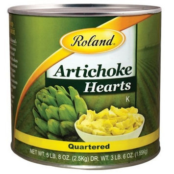 Roland Quartered Artichoke Hearts, 5.5-Pounds Cans (Pack of 2)
