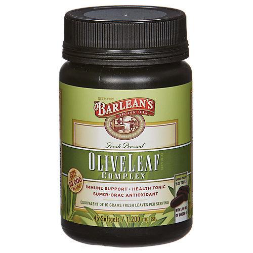 Barleans Barlean's Olive Leaf Complex - 1200 mg - 45 Softgels