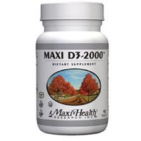 D3-2000 Iu 90 Tab by Maxi Health Kosher Vitamins (1 Each)