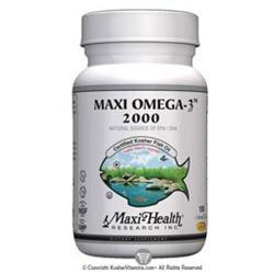 Maxi-Health Research Kosher Vitamins - Maxi-Omega-3 2000 Certified Kosher Fish Oil 2000 mg. - 100 Vegetarian Capsules