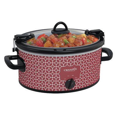 Crock-Pot 6-qt. Cook & Carry Slow Cooker (Red)