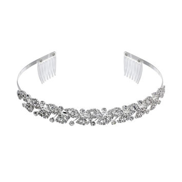 Crystal Allure Leaf Headband (White)
