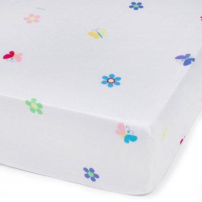 Wildkin Butterfly Garden Olive Kid Fitted Crib Sheet