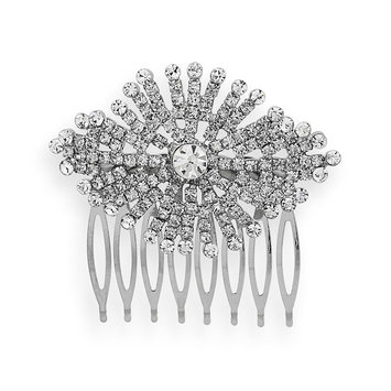 Crystal Allure Starburst Hair Comb (White)
