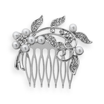 Crystal Allure Vine Hair Comb (White)