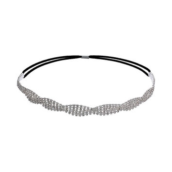 Crystal Allure Twist Headband (White)