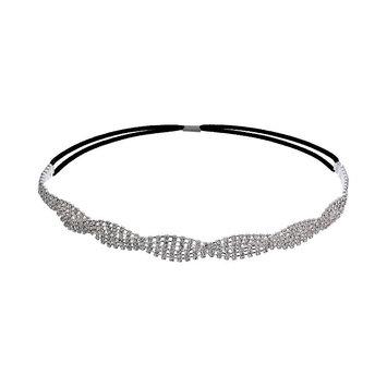Crystal Allure Twist Headband (White)