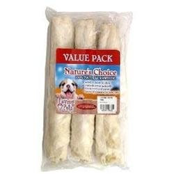 Loving Petsing Pets Rawhide White KNOT BONE 10in 3pack