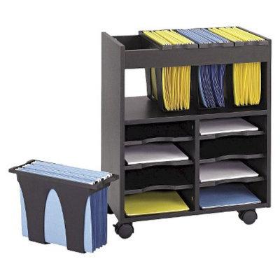 Vertical Filing Cabinet: Safco Go Carts Mobile Filing Cabinet - Black