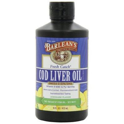 Barlean's Organic Oils, Fresh Catch Cod Liver Oil, Lemonade Flavor, 16-Ounce