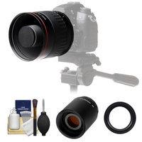 Vivitar 500mm f/6.3 Mirror Lens with 2x Teleconverter (=1000mm) + Accessory Kit for Sony Alpha DSLR SLT-A37, A57, A58, A65, A77, A99 DSLR Cameras