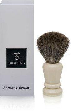True Gentlemen Pure Badger Shaving Brush Faux Ivory