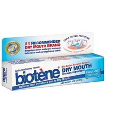 Biotene Original Toothpaste (Drymouth), Original Freshmint , .75-Ounce Tubes (Pack of 24)