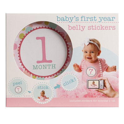Stepping Stones Baby's First Year Belly Stickers (Girl)
