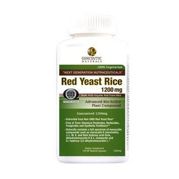 Genceutic Naturals RED YEAST RICE 1200mg 120 CAPS