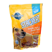 Pedigree Stackerz Treats for Dogs Smoky Bacon & Cheddar Flavor