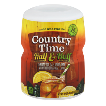 Country Time Half Lemonade and Half Iced Tea Powdered Soft Drink Cannister