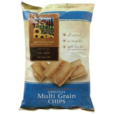 Mediterranean Snacks Mediterranean Snack Food Company Original Multi Grain Chips, 6 Ounce -- 12 per case.