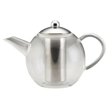 Bonjour Round Teapot with Shut Off Infuser
