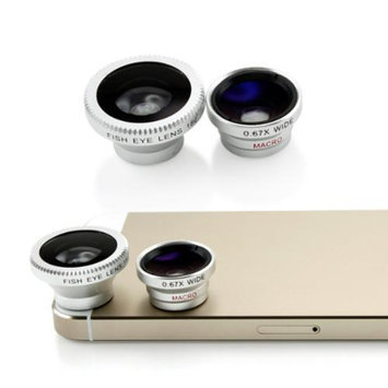 Universal Phone kit Fisheye Fish Eye and Micro Smartphone Camera Mobile Cell Phone Lens - Silver