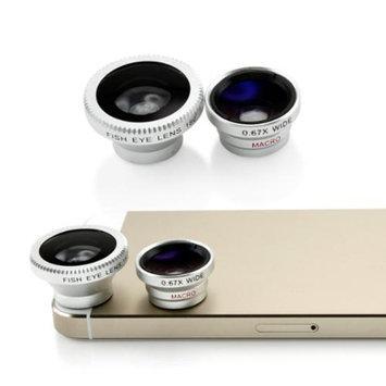 Universal Phone kit Fisheye Fish Eye and Micro Smartphone Camera Mobile Cell Phone Lens - Silver